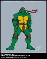 TMNT TBOTS Raphael 18 Color by theblindalley