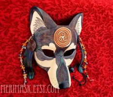 Celtic Raven Wolf Mask 1 by merimask