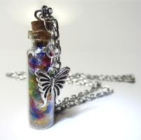 Rainbow Butterfly Bottle by birdsoup
