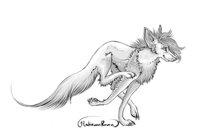 Free to Use: Shaded Running Canine by MischievousRaven