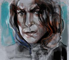 Alan Rickman by Olga-Tereshenko