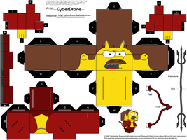 Cubee - Devil Flanders by CyberDrone