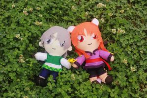 Spice and Wolf Plushies by firecloak