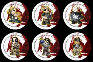Dragon Age Awakening Badges by RedPawDesigns