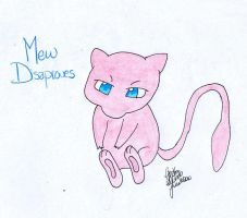 Mew Disaproves by darkraven2116
