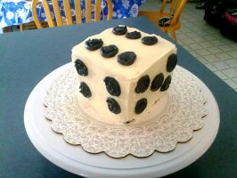 D6 Dice Cake by hollyann
