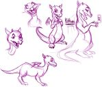 Kitten Sketches by WendyDoodles