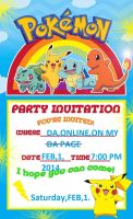 Pokemon Party Invitation by Bluedragon85