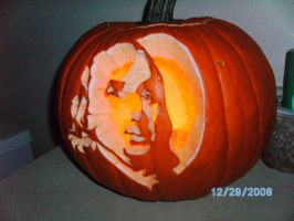 Benjamin Franklin Pumpkin Carving 07 by liquidinsect