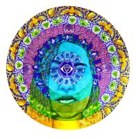Anja, Third Eye Chakra by PaintMyWorldRainbow