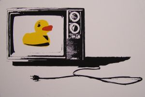 duck on tv by zachcherry