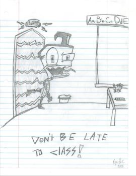 DONT BE LATE TO CLASS by Ecroy
