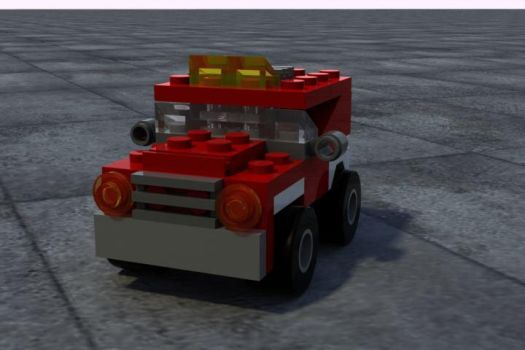 Lego or Mega block Truck? by rossni