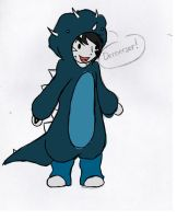 Rhys is a Dinosaur (Colored) by EpicHiroTheFixer