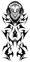 Tribal Lion Tattoo Concept by Fallingfreely
