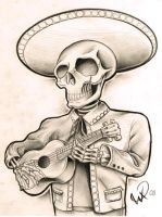 Mariachi skeleton guy by WillemXSM