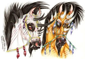 GypsymoonCommish gothstallions by moonfeather