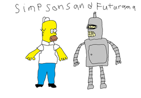 Simpsons and Futurama by Simpsonsfanatic33