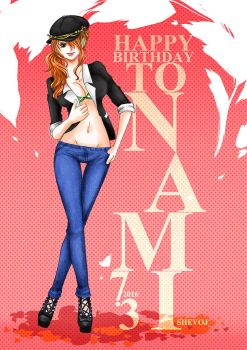 Happy Birthday to the gorgeous Nami!! by shevoj
