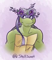 Donatello's Flower Crown by Shellsweet