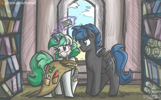 [Commission] Clover and Hurricane by FlutterThrash