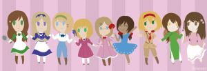 Hetalia Girls by Daiasoes