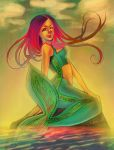 Sunset Mermaid by Lambii