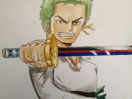 Zoro From One Piece by BrownBeard