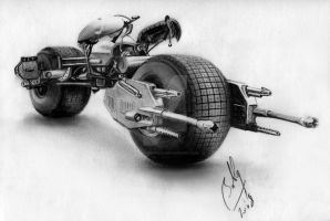 The Dark Knight - Batpod by Bobby-Sandhu