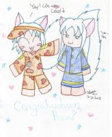 Chibified Sandy and Coral by Chaotic-Kyubi