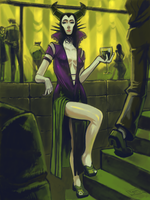 Maleficent gone Clubbing by jazreet911