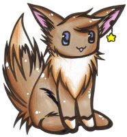 An Eevee? -Traditional by x-shinigami-x