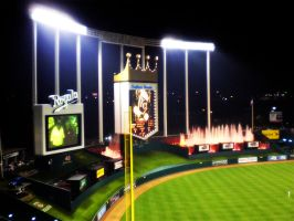 Kauffman Stadium by fictionlast