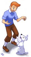 Tintin and Snowy by gndagnor