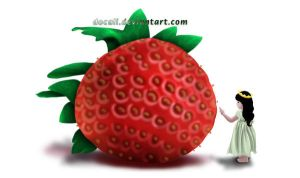 strawberry and little princess by Docali