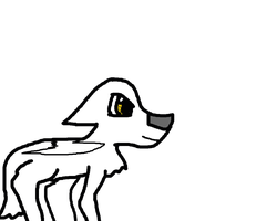 Lunes in wolf form by Wolfclaw15