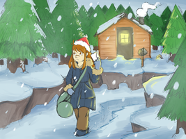 Winter by LittleWoodlouse
