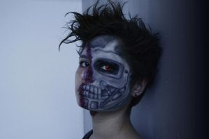 Terminator makeup by Watermint