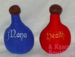 Potion Bottle Plushies by AKawaiiBoutique