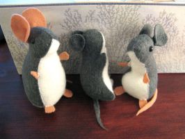Mice Plush Versions by TheCrittersCove