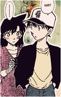 Ran and Shinichi by memica