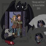 Toothless and Crew by khallion