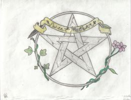 Sweet Mother Goddess Pentacle by ravencry