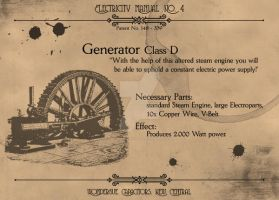 Electricity Manual: GeneratorD by Machina-Obscura