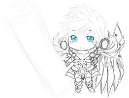 wip chibi chung elsword by Rose96ale