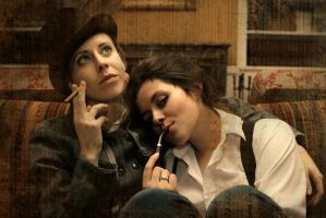 Holmes and Watson cosplay by MigraineSky
