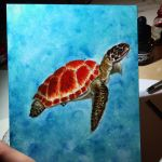 Sea turtle panel 1 by TheAdrienneDriggs