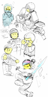 Lego Movie doodles by Barukurii