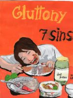 7  Deadly Sins- Gluttony by We-all-sin
