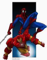 Spiderman n IronMan by Misterho